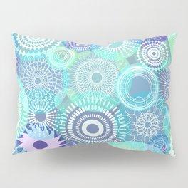Kooky kaleidoscope Purples and Teal Pillow Sham