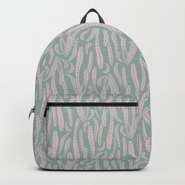 Green Pink Succulent Leaves Texture Pattern Backpack