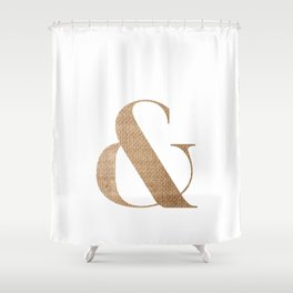 & BURLAP Shower Curtain