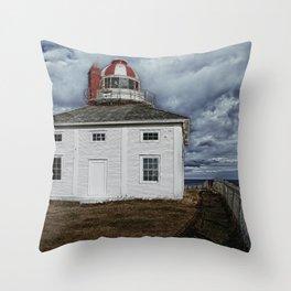 Lighthouse in Newfoundland, Canada Throw Pillow