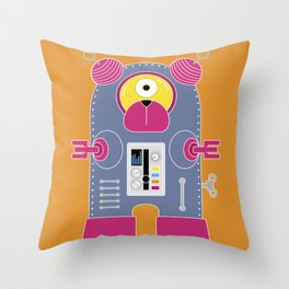 Robot Sy-Klop Throw Pillow