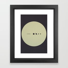 (You are here) Solar System v2 Framed Art Print