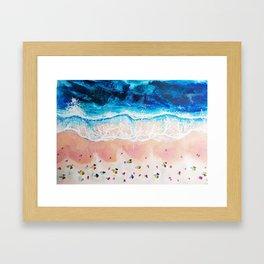 Weekend Beaches Framed Art Print