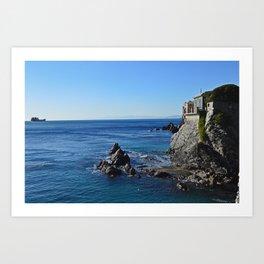 Amazing sea landcape from Genova , Italy Art Print
