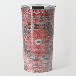 Vintage Anthropologie Farmhouse Traditional Boho Moroccan Style Texture Travel Mug