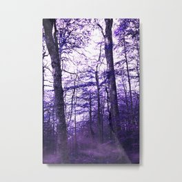 Violet Endless Album - Deep White Forest Metal Print