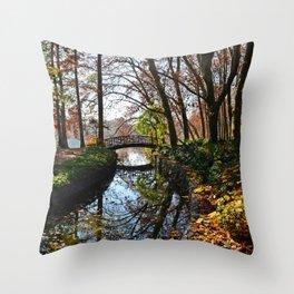 Beautiful autumn in Lyon Throw Pillow