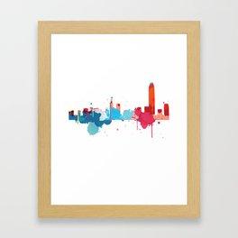 Hong Kong Cityscape Watercolor Framed Art Print