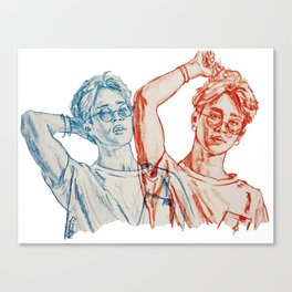 Jimin red and blue Canvas Print