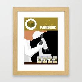 Pandemic - Yellow Framed Art Print