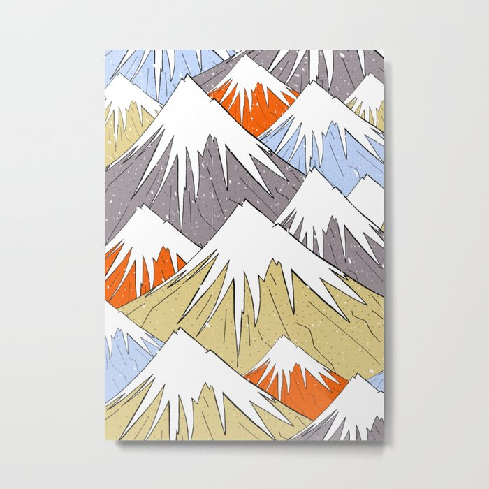 Away in the mountains Metal Print