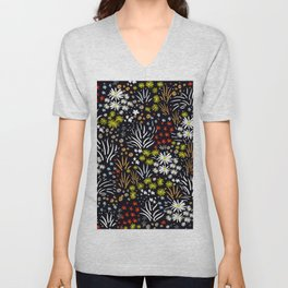 Fall Landscape Dark Unisex V-Neck