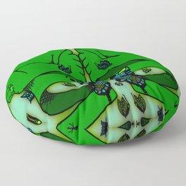 Green Nervous Butterfly Floor Pillow