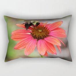 Bumble Bee On Coneflower Rectangular Pillow