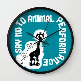 Say NO to Animal Performance – Seal Wall Clock
