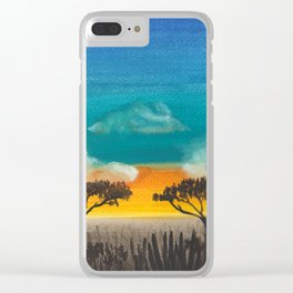 Jungle sunset Clear iPhone Case