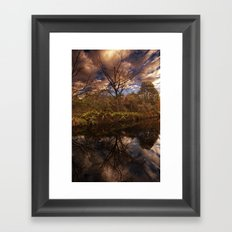 Canal side Reflections Framed Art Print
