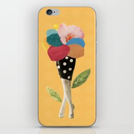 all flowers in time bend towards the sun iPhone Skin