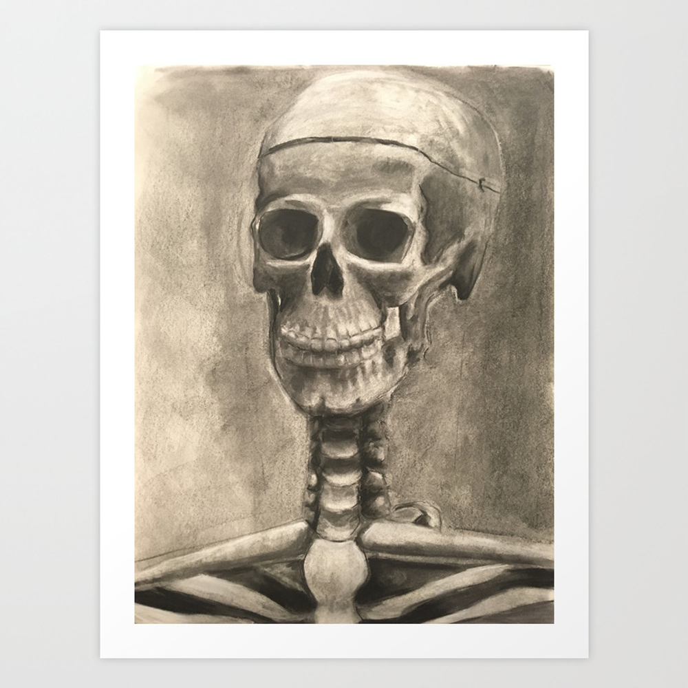 Skull Anatomical Study Art Print by Tayfoerster PRN8917978