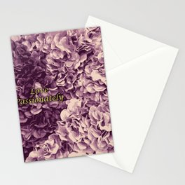 Flowers Love Passionately (Pink) Stationery Cards