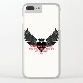 Be in Love Clear iPhone Case