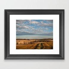 Autumn Farmland  Framed Art Print