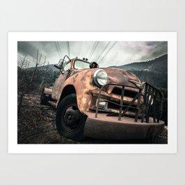 Rusty Road Art Print