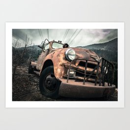 Rusty Road Art Print