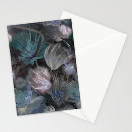 moody flowers Stationery Cards