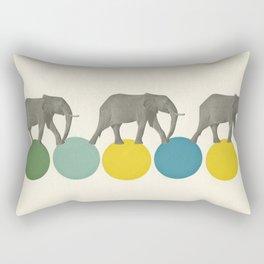 Travelling Elephants Rectangular Pillow