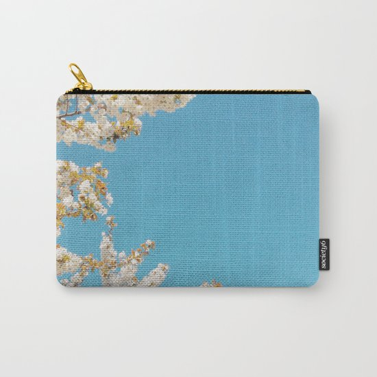 Wave of Flowers Carry-All Pouch