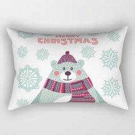 Cute bear with snowflakes Rectangular Pillow