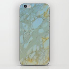 Marble in Blues and Golds, Italian  iPhone Skin