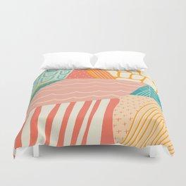 beach quilt Duvet Cover
