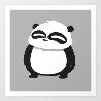Super Panda Art Print