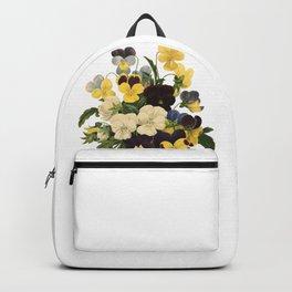 Bouquet of violets flower | Vintage Redoute Flower Hand drawn Illustrations  Backpack