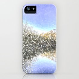 The Winters Day Pond iPhone Case
