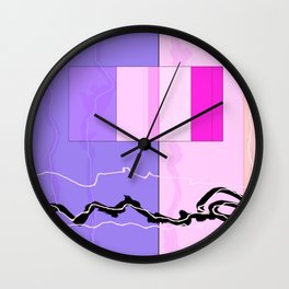 Squares combined no. 9 Wall Clock