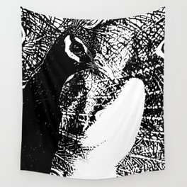 Nude Peacock Woman Wall Tapestry