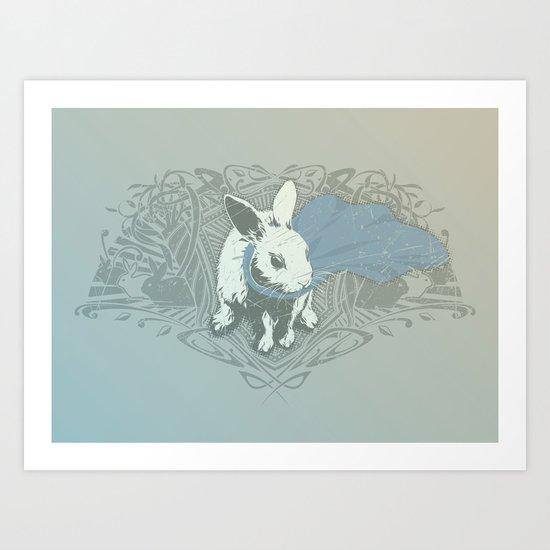 Fearless Creature: Rabz Art Print