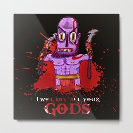 The fury of kratos Metal Print