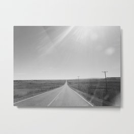 On an open road Metal Print