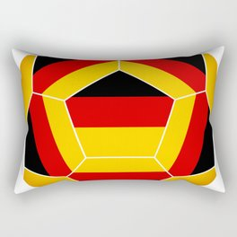Football ball with German flag Rectangular Pillow