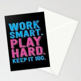 Play Hard Stationery Cards