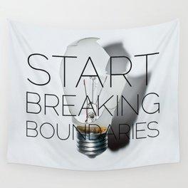 breaking boundaries Wall Tapestry