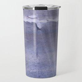 Gray violet colored watercolor Travel Mug