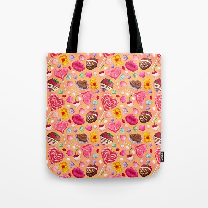Valentine's Day Candy Pattern Tote Bag