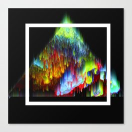 Glitch triangle Canvas Print