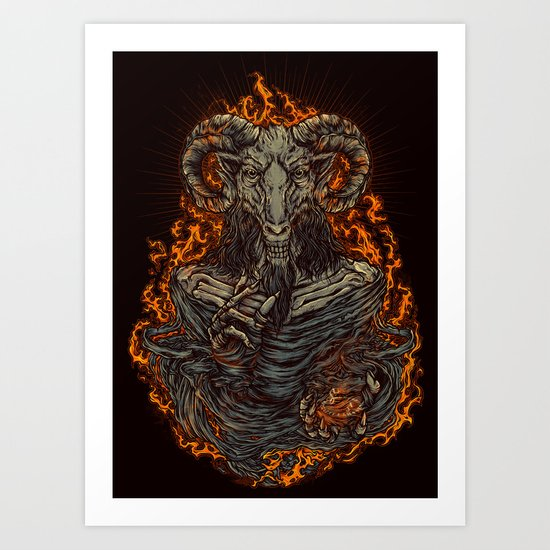 lord of goat Art Print