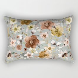 Winter Flower Bouquets Beige Rectangular Pillow